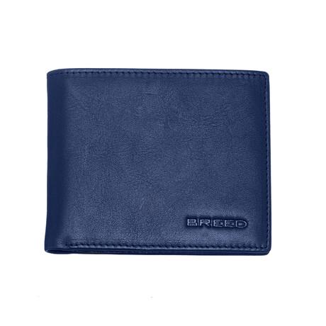 Locke Bi-Fold Wallet // Blue