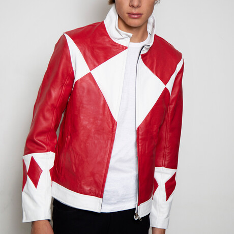 Power Ranger Classic Leather Jacket // Red (XS)