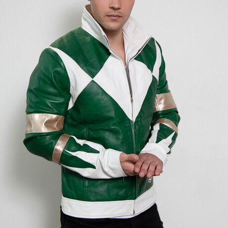 Power Ranger Classic Leather Jacket // Green (XS)
