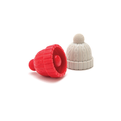 Beanie // Bottle Stoppers // Set of 2 (Blue + Gray)