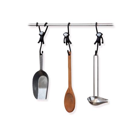 Just Hanging // Kitchen Hooks // Set of 3 (Black)