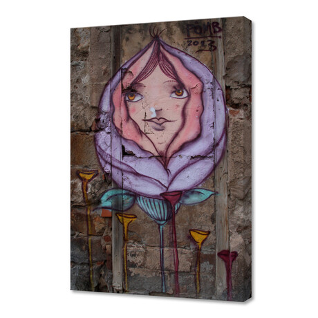 """A Rose From Concrete (12""""H x 8""""W x 0.75""""D)"""