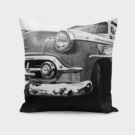 "American Dream Car I // Black + White (14"" x 14"")"
