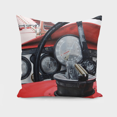 """Old Racing Red Car (14"""" x 14"""")"""