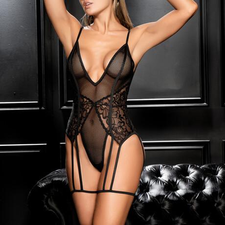 Kimberly Bodysuit // Black (S-M)