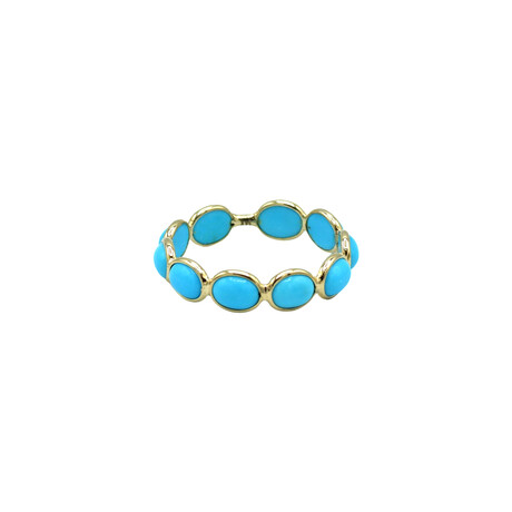 14k Yellow Gold Turquoise Ring // Ring Size: 6.75 // Pre-Owned