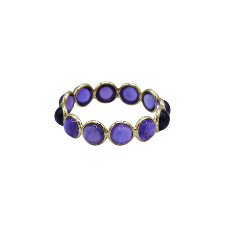 14k Yellow Gold Amethyst Ring // Ring Size: 7 // Pre-Owned
