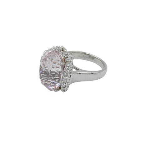 Platinum Diamond + Kunzanite Ring // Ring Size: 6 // Pre-Owned