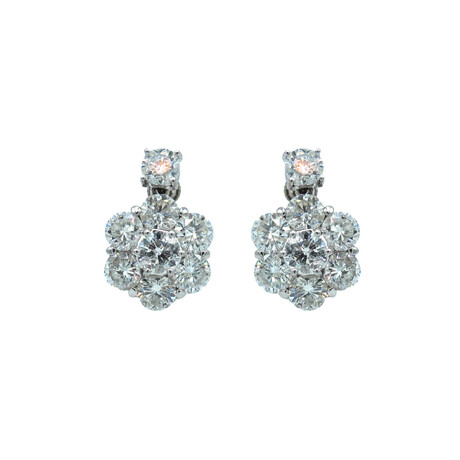 Platinum Diamond Earrings // Pre-Owned