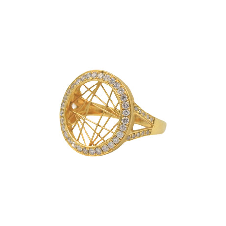 14k Yellow Gold Diamond Ring // Ring Size: 7 // Pre-Owned