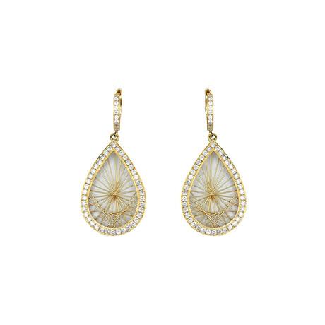 14k Yellow Gold Pear Shape Diamond Earrings // Pre-Owned