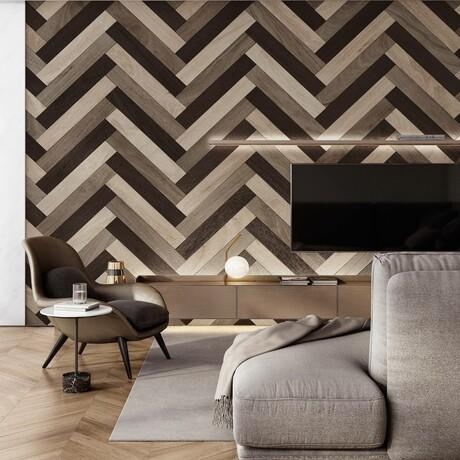 NaturaPlank™ Peel + Stick Wood Wall Cladding // Chocolate Hazel Browns // 2 Pack