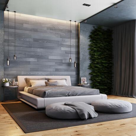 NaturaPlank™ Peel + Stick Wood Wall Cladding // Warm Gray // 2 Pack