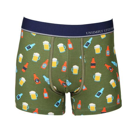 No Show Trunk Beer // Green + Multicolor (S)