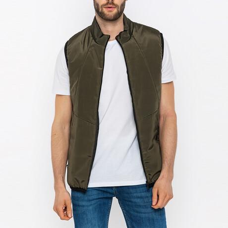 Mateo Puffer Vest // Olive (S)