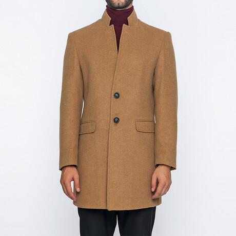 Easton Classic Double Button Winter Coat // Camel (S)