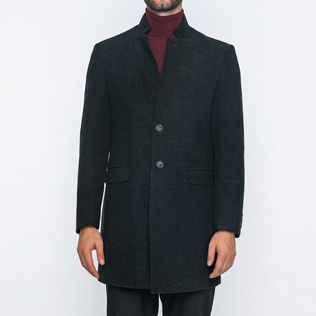 Franklin Classic Double Button Winter Coat // Dark Antracite (S)