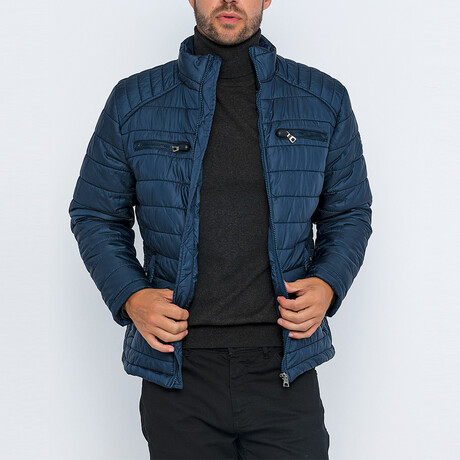 Ace Classic Puffer Jacket // Navy (S)
