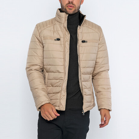 Aiden Classic Puffer Jacket // Tan (S)