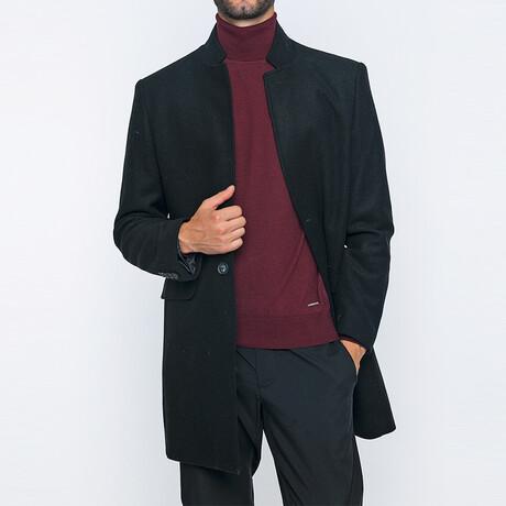 Leon Classic Double Button Winter Coat // Black (S)