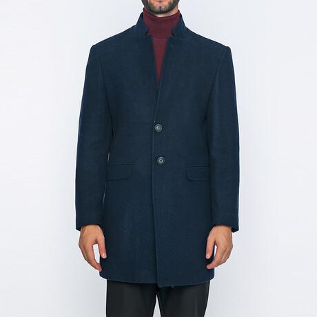 Otis Classic Double Button Winter Coat // Navy (S)