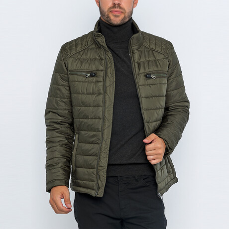 Ross Classic Puffer Jacket // Olive (S)