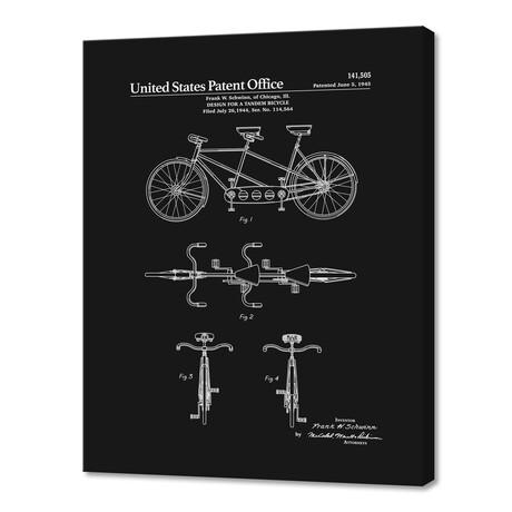 "Tandem Bicycle Patent (10""H x 8""W x 0.75""D)"