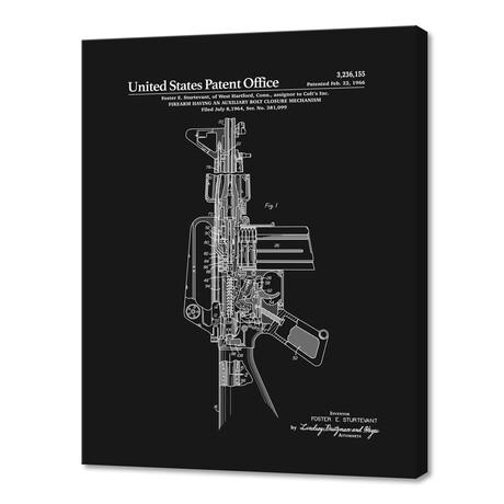 """AR-15 Semi-Automatic Rifle Patent (10""""H x 8""""W x 0.75""""D)"""