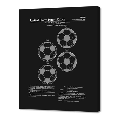 "Soccer Ball Patent (10""H x 8""W x 0.75""D)"