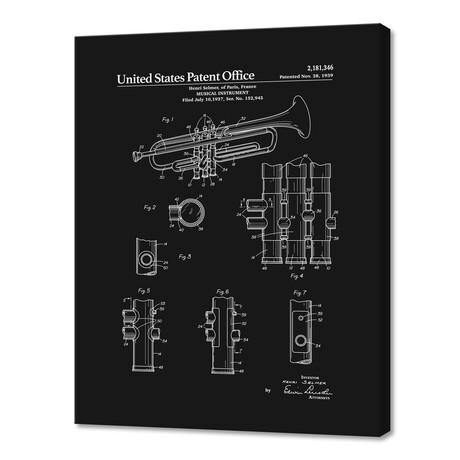"""Trumpet Patent (10""""H x 8""""W x 0.75""""D)"""