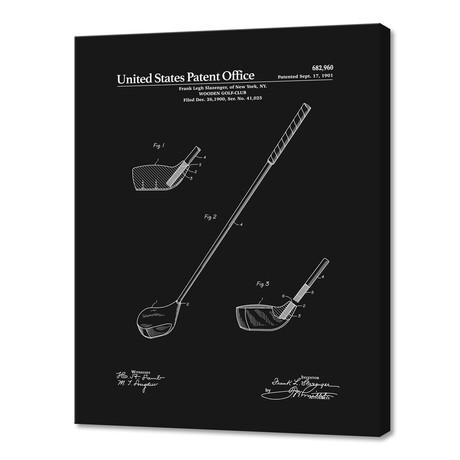 "Golf Club Patent v2 (10""H x 8""W x 0.75""D)"