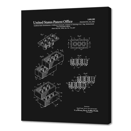 "Toy Building Brick Patent (10""H x 8""W x 0.75""D)"