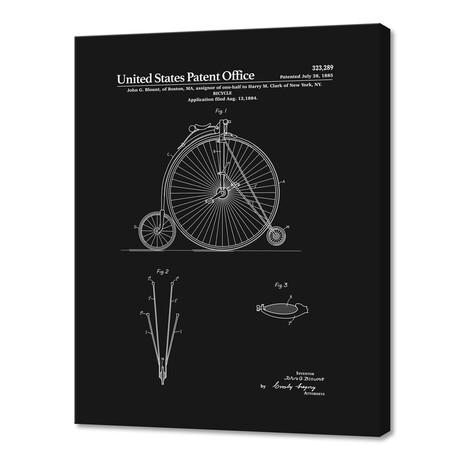 "High Wheel Bicycle Patent (10""H x 8""W x 0.75""D)"