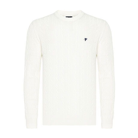 Yaris Round Neck Woven Pullover // Off-White (S)