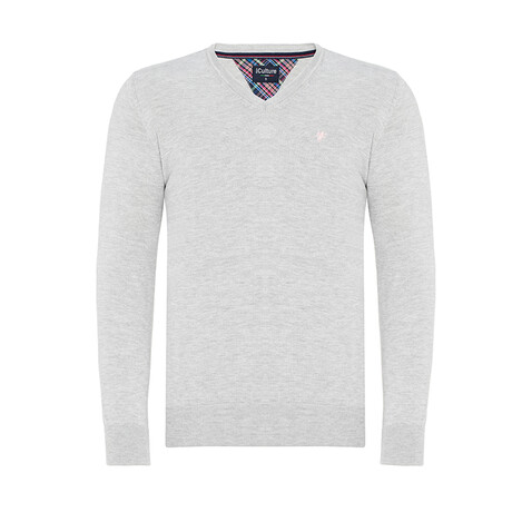 Stephan V-Neck Pullover Sweater // Gray (S)