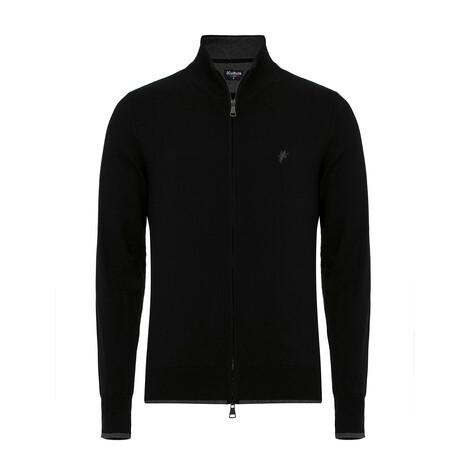 Blake Turtleneck Zip-Up Sweater // Black (S)