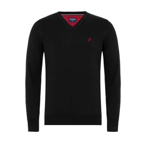 Andy V-Neck Pullover Sweater // Black (S)