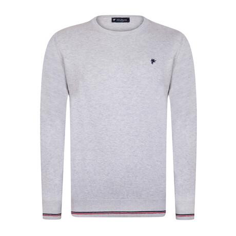 Parker Round Neck Pullover Sweater // Gray Melange (S)