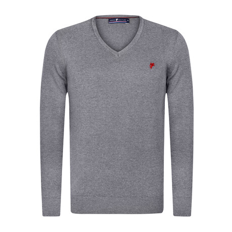 Mason V-Neck Pullover Sweater // Anthracite (S)