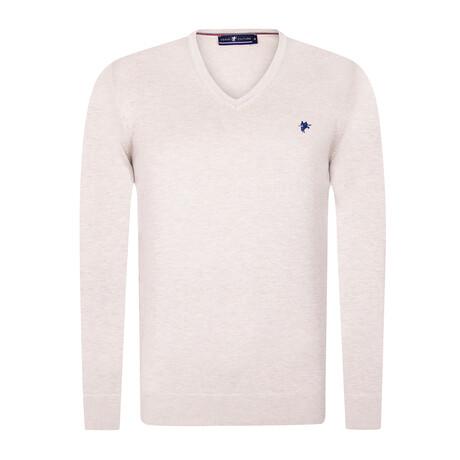 Oren V-Neck Pullover Sweater // Beige (S)