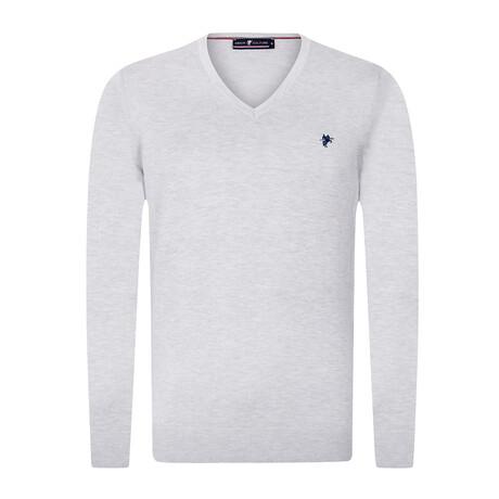 Logan V-Neck Pullover Sweater // Gray Melange (S)