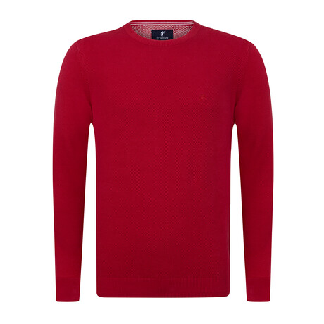 Max Round Neck Pullover Sweater // Red (S)