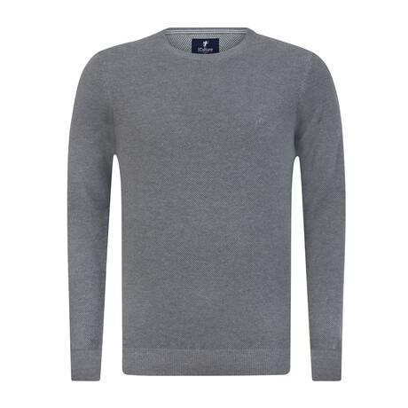 Christopher Round Neck Pullover Sweater // Gray Melange (S)