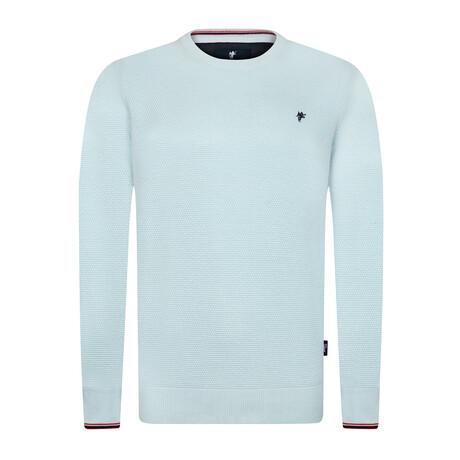 Blaine Round Neck Pullover Sweater // Light Blue (S)