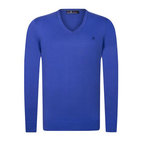 Keelen V-Neck Pullover Sweater // Royal Blue (S)