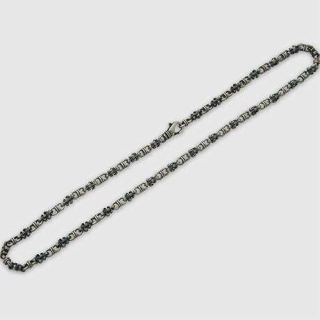 """Fleurdelis Basic Necklace // Silver (19.7""""L)"""