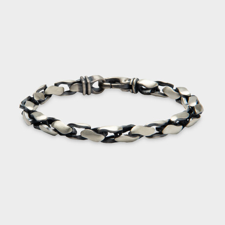 "Basic Link Bracelet No.2 // Silver (6.7""L)"