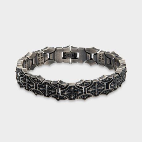 "Fleurdelis Guardian Bracelet // Silver (6.7""L)"