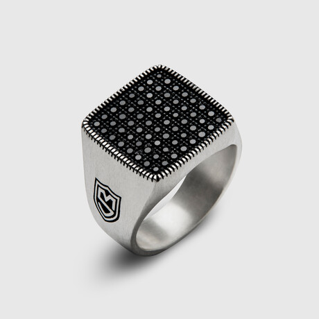 Signet Pave Ring No.2 // Silver (8)