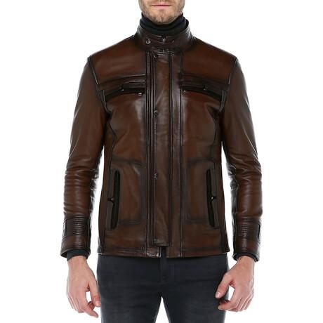 Zig Leather Jacket V2 // Camel (XS)